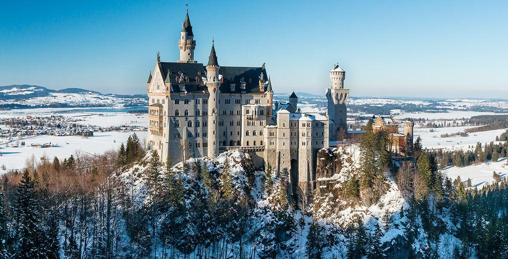 Fotografía el conocido castillo de Neuschwanstein