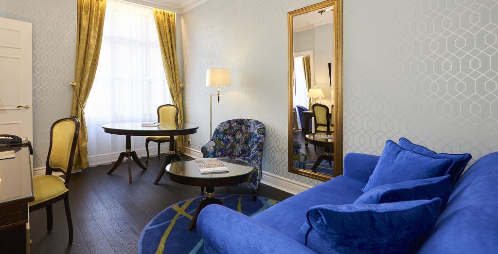 Disfruta de todas las comodidades de tu Suite