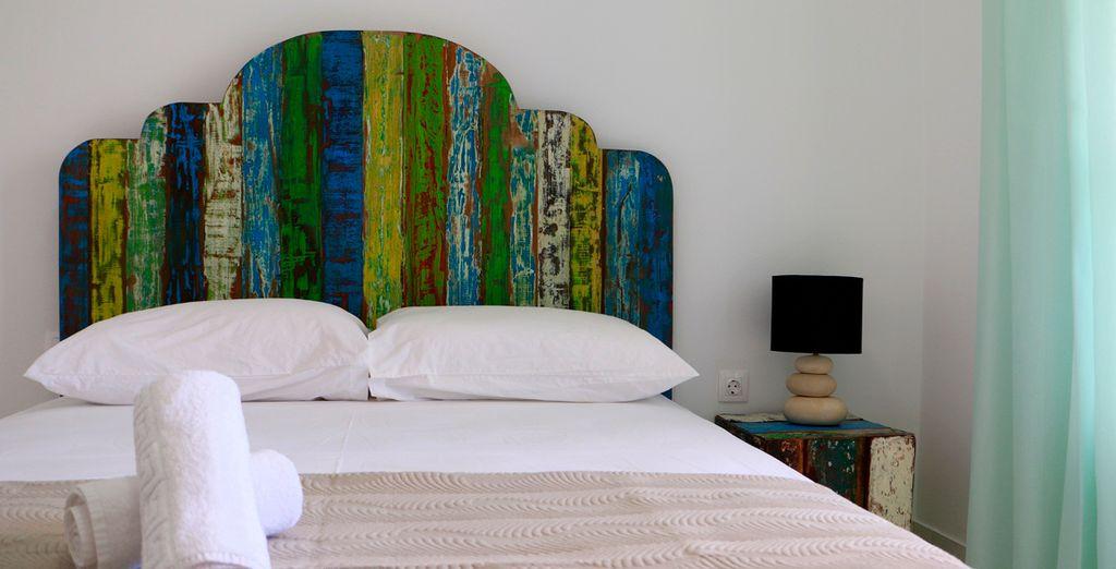 También podrás elegir un apartamento Superior con vistas al mar