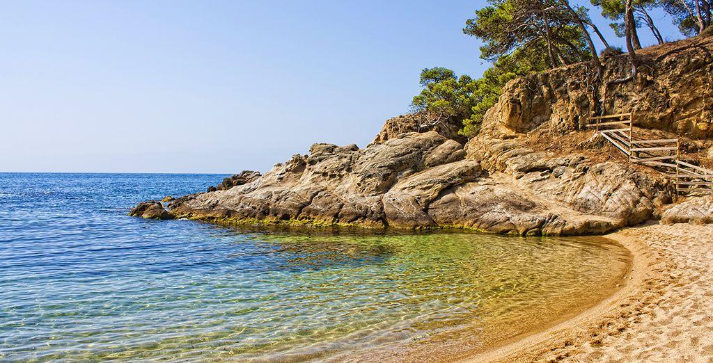 Emplazado a 3 minutos a pie del mar se encuentra en Platja d'Aro
