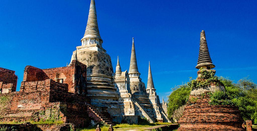 De camino a Phitsanulok, harás una visita a Ayyutahaya, la antigua capital