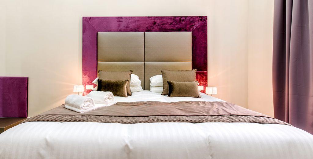 Descansarás en una confortable habitación Deluxe