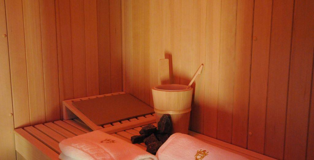 Con sauna, zona de relax y baño turco