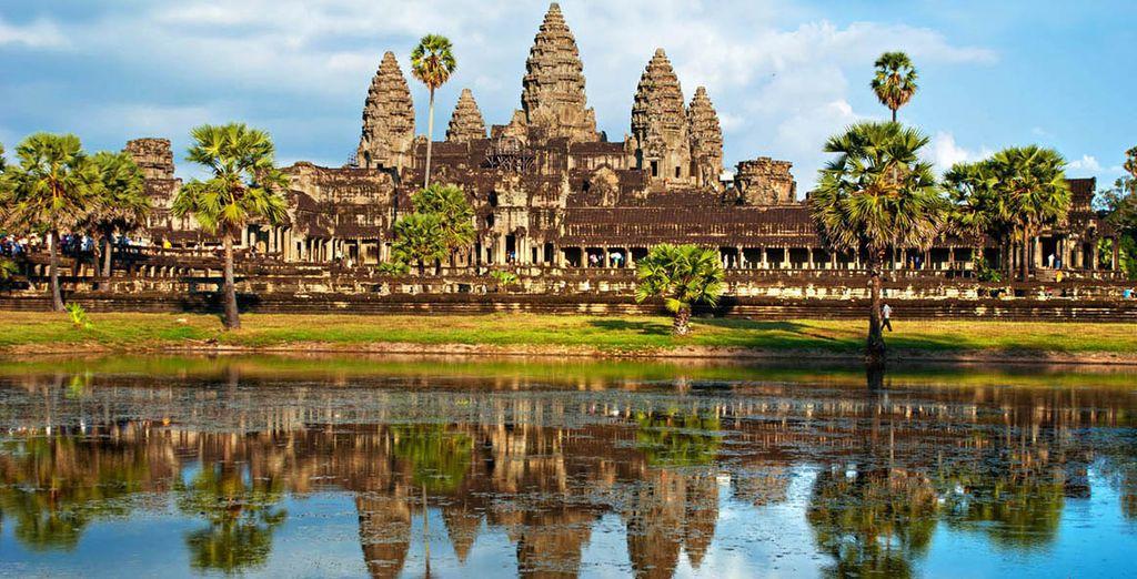 Vistas lejanas del Templo Angkor