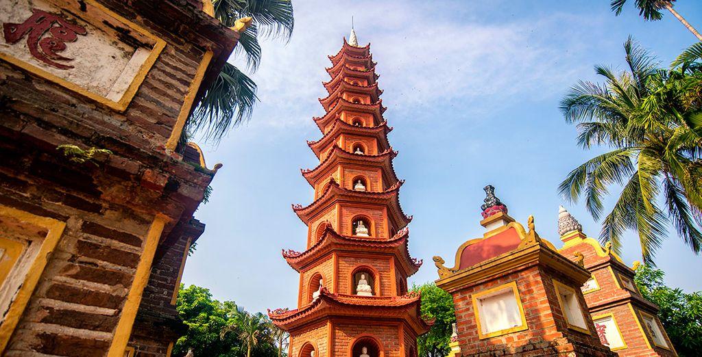 Pagoda Tran Quoc en Hanói