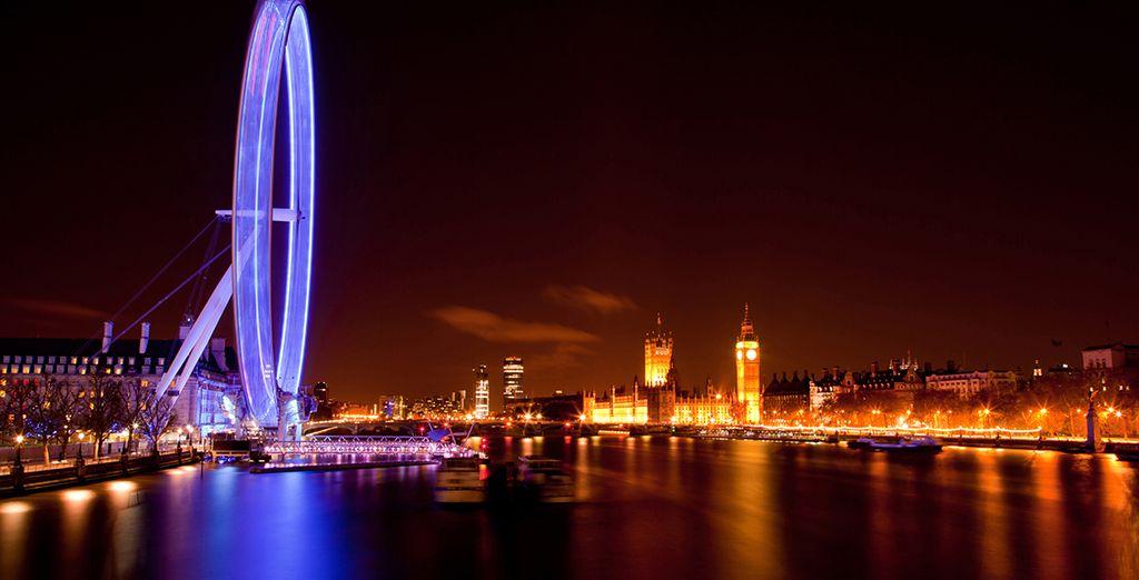 No te pierdas subir al London Eye para obtener una vista de la ciudad que jamás olvidarás