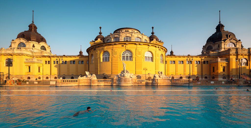 Estarás a 600 metros de distancia del famoso baño termal Széchenyi