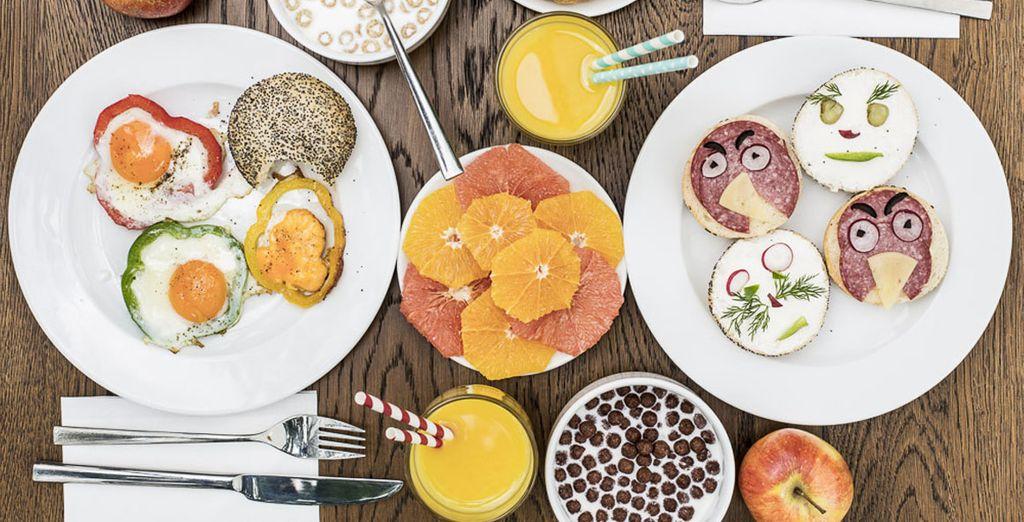 ...y un desayuno que te hará sonreír