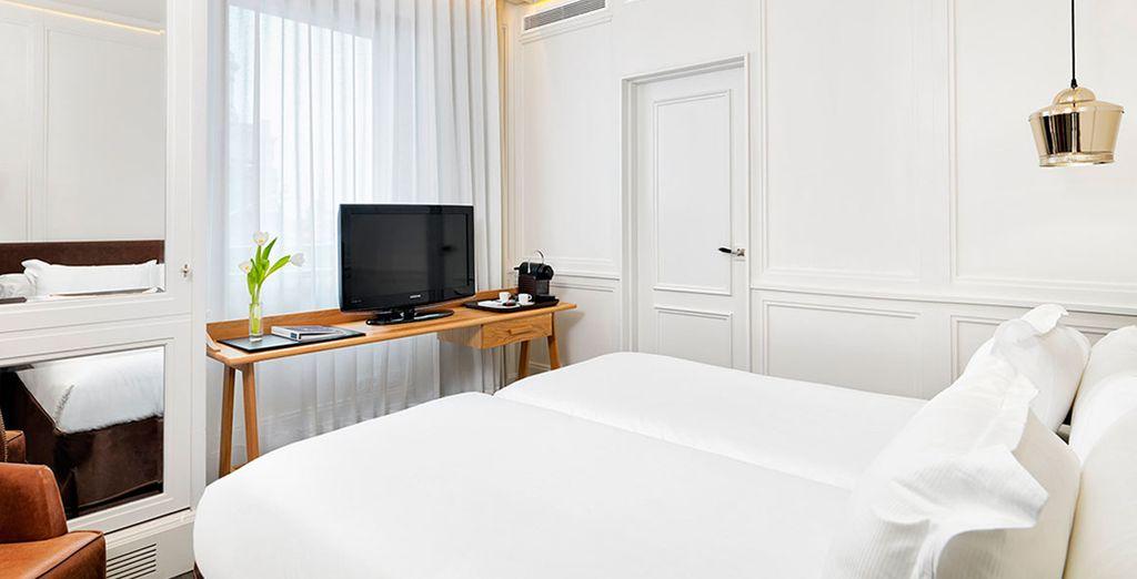 Habitaciones cómodas y luminosas