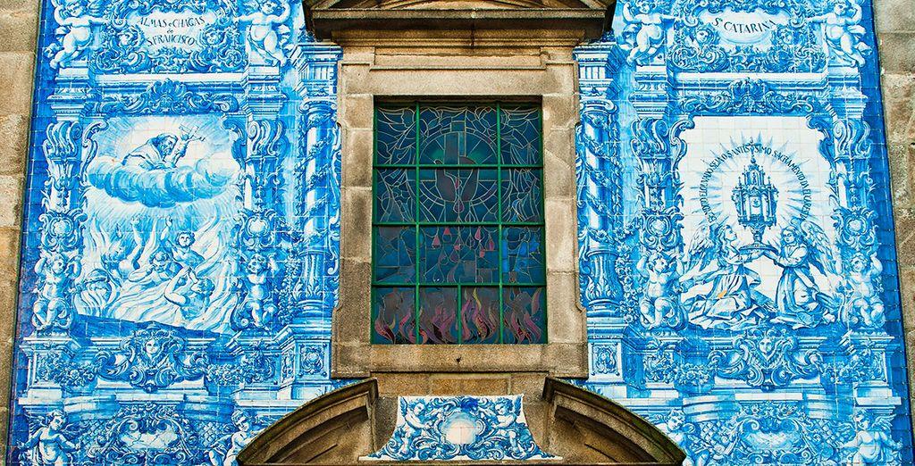 Los característicos azulejos de Portugal que tanta vida dan a la arquitectura tradicional