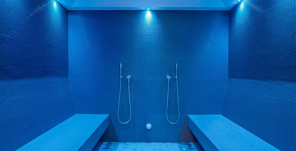 Relájate en el baño de vapor aromático