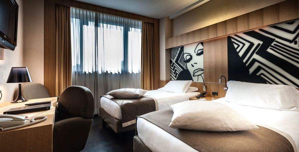 Puede albergar cama doble o dos camas individuales