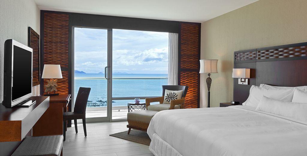 O en una habitación Deluxe Ocean View