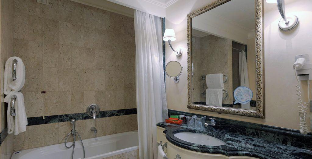 ...con baño completamente equipado