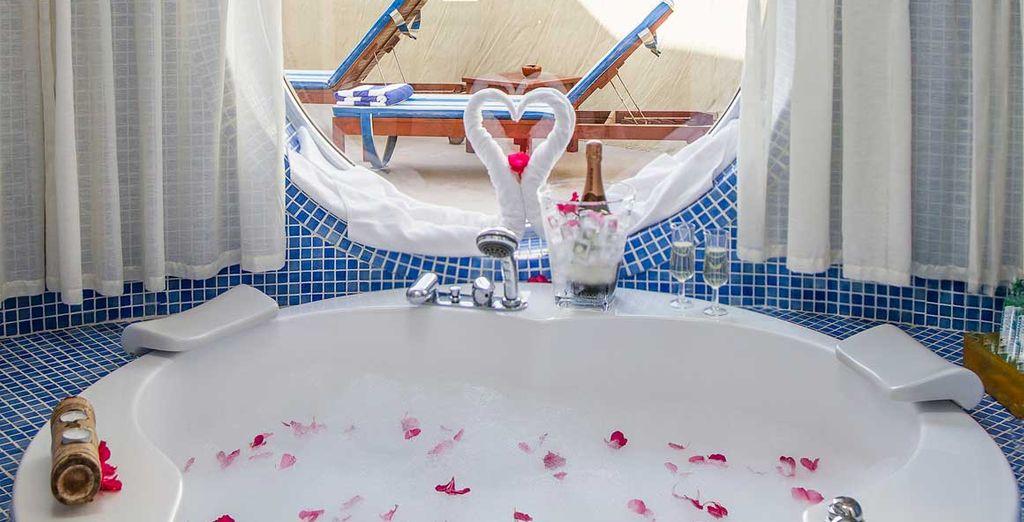 Con un baño único y privado