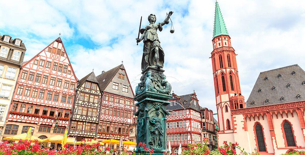 Comenzarás en la ciudad alemana de Frankfurt