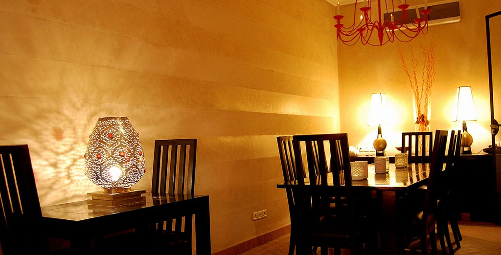 En el restaurante podrás degustar la cocina tradicional marroquí
