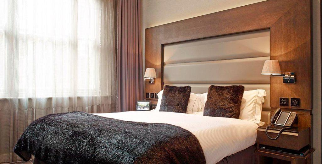 Bienvenido a tu habitación City King en Eccleston Square Hotel 5*