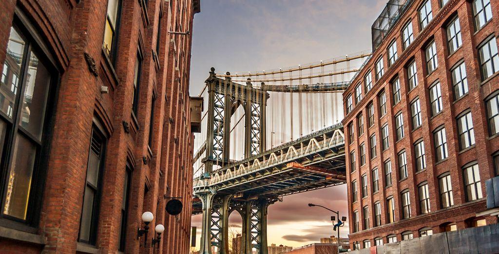 Recorre el puente de Brooklyn