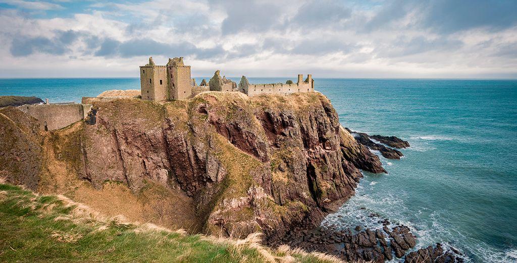 El Castillo de Dunnotar, a escasa distancia de Aberdeen