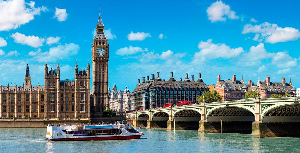 Disfrutarás de un crucero por el Támesis desde Westminster...