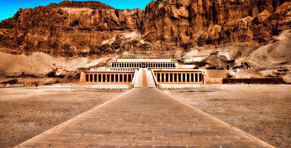El monumental templo de la reina Hatshepsut