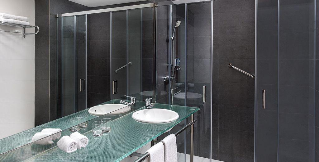Con baño privado completamente equipado