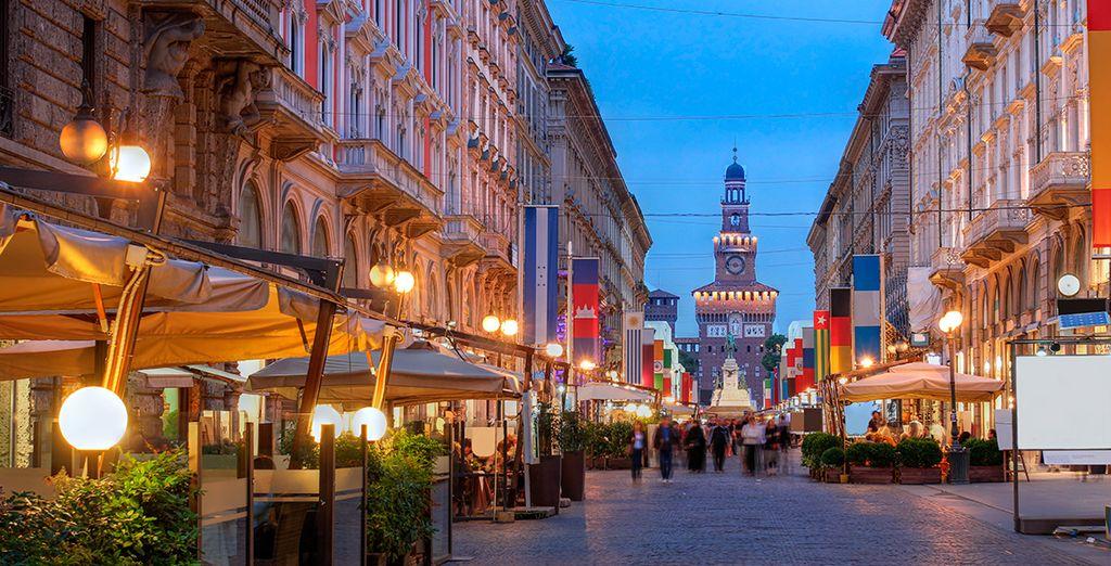 Via Dante, una de las calles más conocidas de la capital lombarda