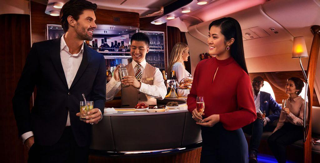 Para un momento de desconexión en el aeropuerto, las salas VIP de Emirates
