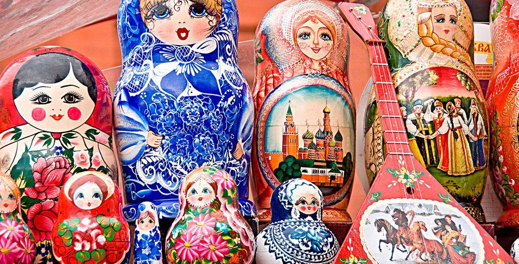 "Las famosas matrióshkas que podrás encontrar en la feria ""Vernissage"""