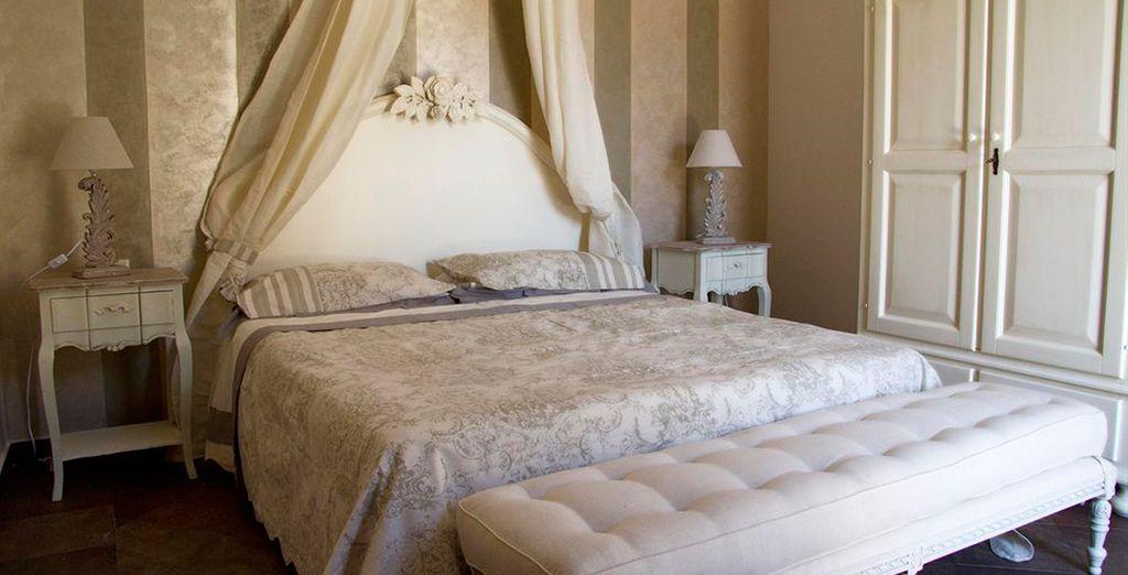 Las habitaciones Classic están decoradas con muebles de época