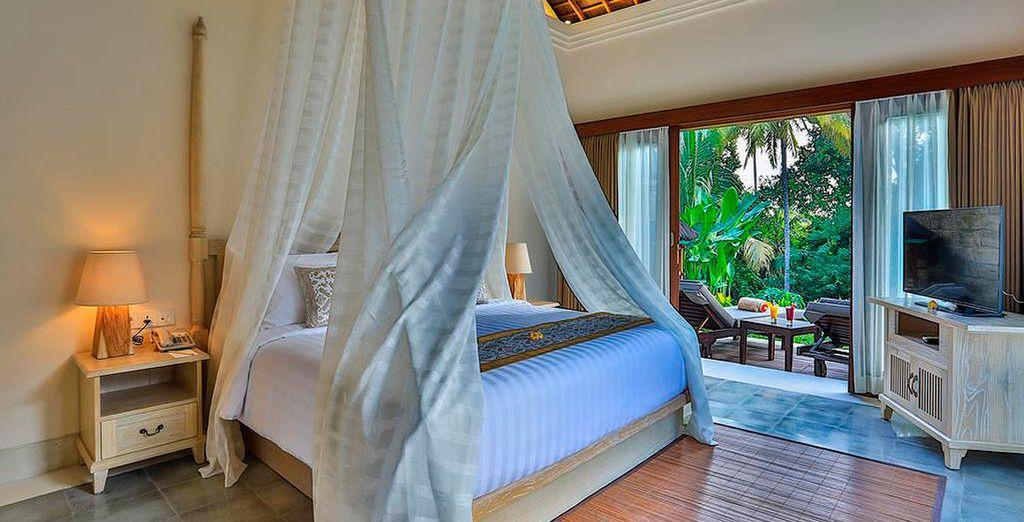 O bien escoge descansar en el Vivesa Ubud 5*, tu opción de alojamiento Premium