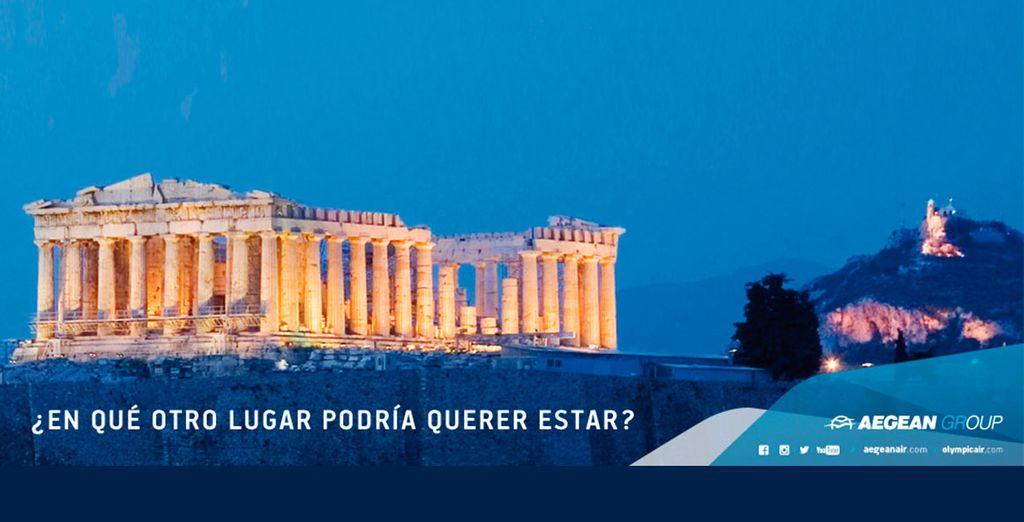 Disfrute de Grecia reservando sus vuelos con Aegean y Voyage Privé
