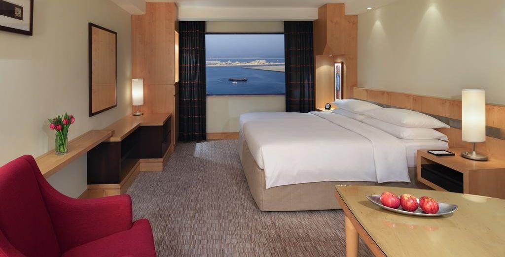 Descansarás en una habitación con bonitas vistas