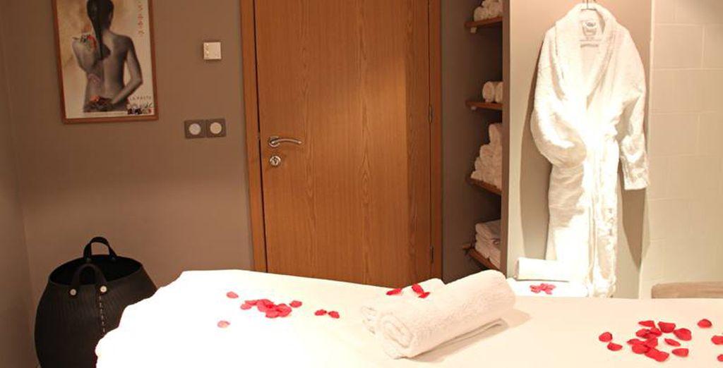 Disfrute de los tratamientos del spa