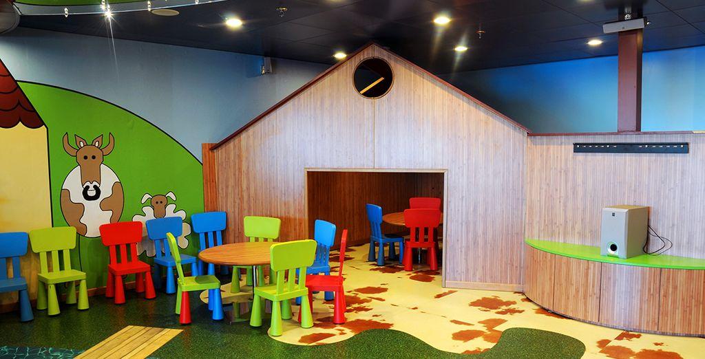 Espacio ideal para los niños, porque ellos también tienen derecho a divertirse