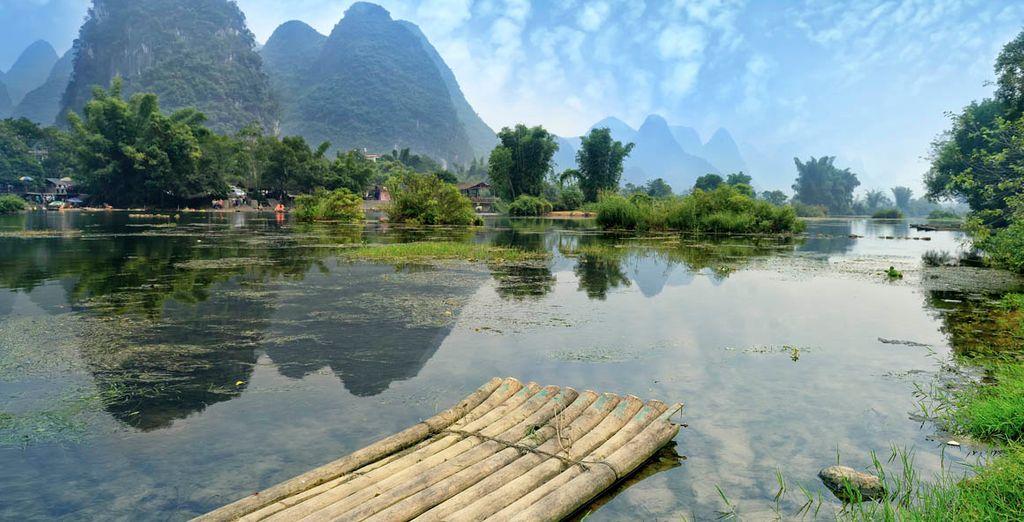 Las llanuras alrededor de Guilin están dedicadas a la agricultura