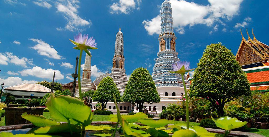 Te empaparás de su arquitectura budista