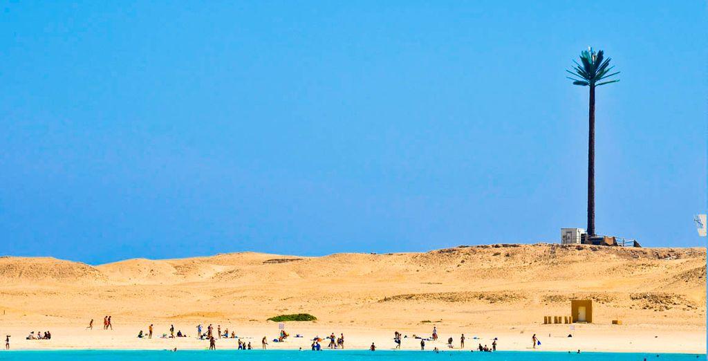... de arena blanca y aguas cristalinas