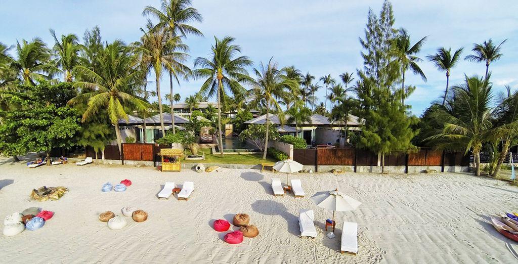El Elements Boutique Resort está en la tranquila playa de Taling Ngam