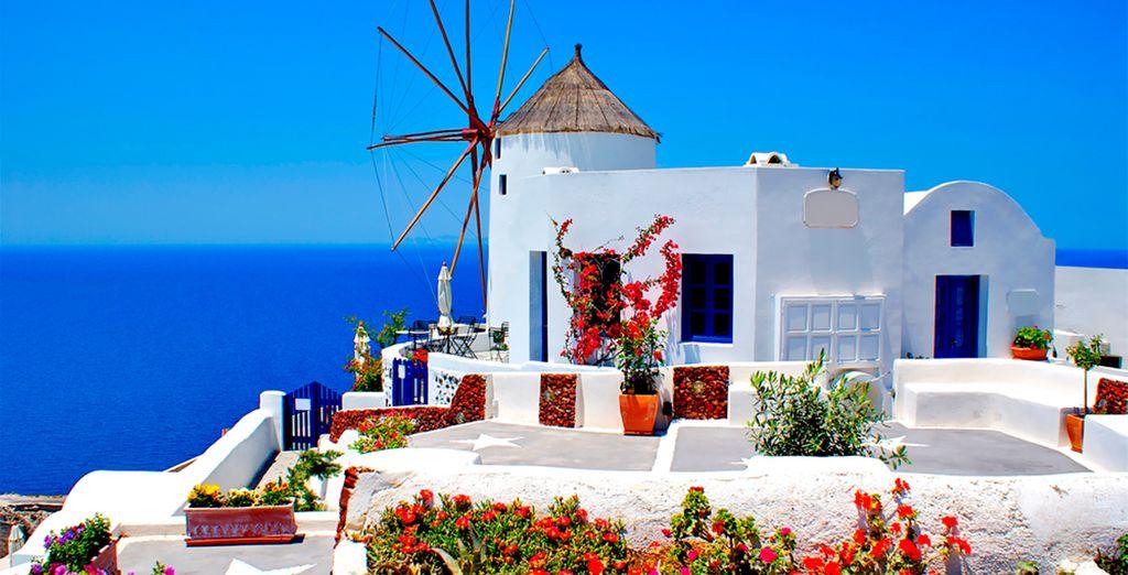 Santorini, una isla volcánica en el Mediterráneo