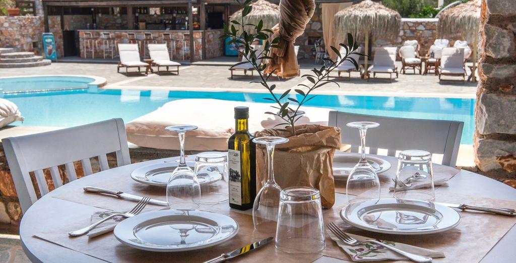 Deguste la gastronomía griega...
