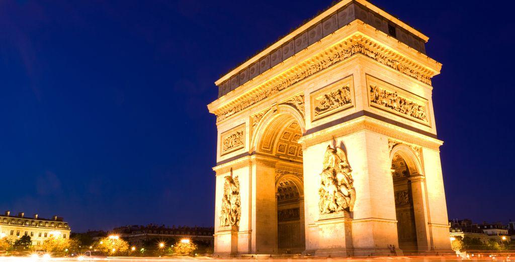 El famoso Arco de Triunfo
