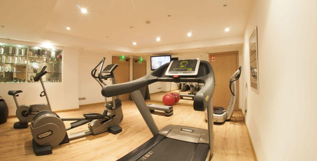 No deje de entrenarse en el gimnasio del hotel