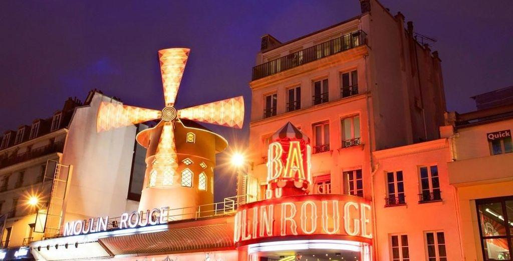 A 50 metros del famoso Moulin Rouge
