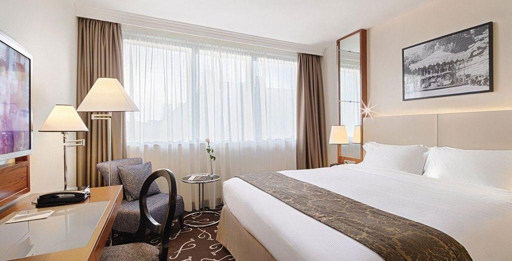 Con dos camas o cama matrimonial según disponibilidad