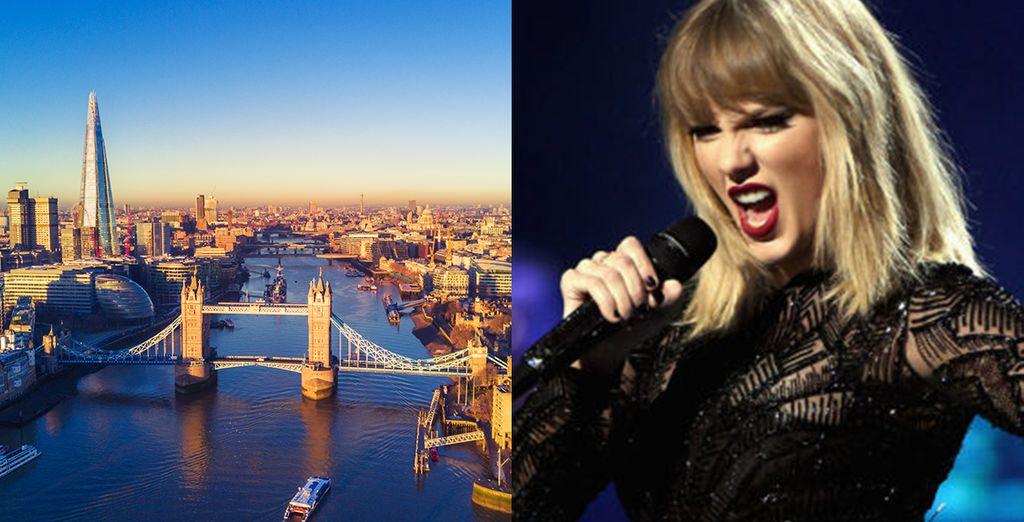 Vive una experiencia única en la capital inglesa con entrada al concierto de Taylor Swift