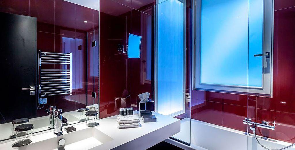 Un baño completo y de gran exquisitez