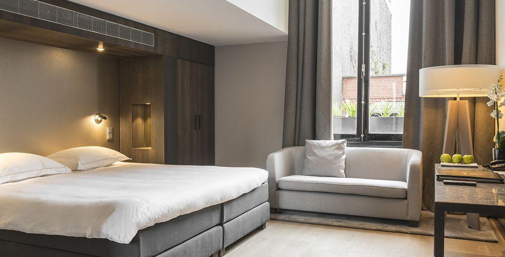 Podras escoger descansar en una habitación Doble