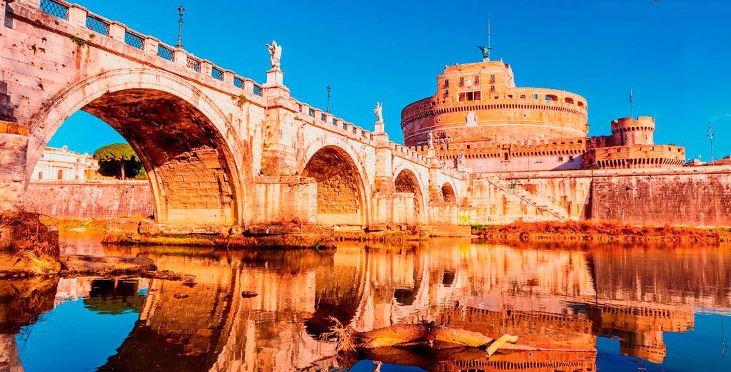 Viaje a Roma y descubra joyas como el Castillo de Sant'Angelo con alojamiento en el Hotel Dei Mellini 4*
